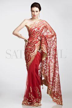 Tusaar Net Saree | Satya Paul