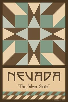 Olde America Antiques | Quilt Blocks | National Parks | Bozeman Montana : 50 STATE QUILT BLOCK SERIES - NEVADA