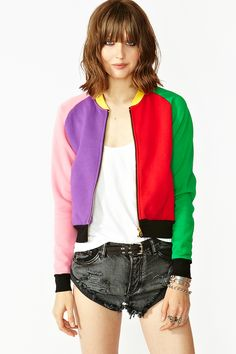 I feel like I had almost the same jacket when I was a kid. I would so rock this again, push up the sleeves, and just wear everything adidas and sporty/hip hop with it. :P it'd be fun