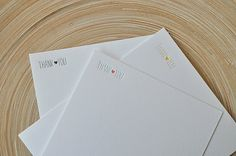Simple letterpress thank you notes