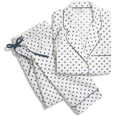 MADEWELL The Sleep-In Set in Domino Dot ($80) ❤ liked on Polyvore featuring intimates, sleepwear, pajamas, sleep, pearl ivory, polka dot sleepwear, button pajamas, polka dot pjs, polka dot pajamas and madewell