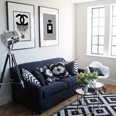 Sácale provecho a cada rincón de tu casa. Mesas y sillas laterales excelentes para departamentos chicos o espacios pequeños. Tenemos en varios colores!  Visita www.lumoliving.com (imagen deowldesign.co.uk) #Lumoliving