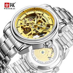 WEISIKAI Top Brand Luxury Roman Watch Men 2017 New Fashion Skeleton Watches Hollow Automatic Mechanical Steel Strip Wristwatch Rolex Watches, Watches For Men, Skeleton Watches, Military Men, Mechanical Watch, Stainless Steel Watch, Business Fashion, Fashion Bracelets, Bracelet Watch