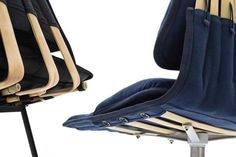 Office Chair using the flexibility of bamboo by Fanette Pesch