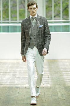 Hackett-Windowpane-Jacket-with-Bow-Tie