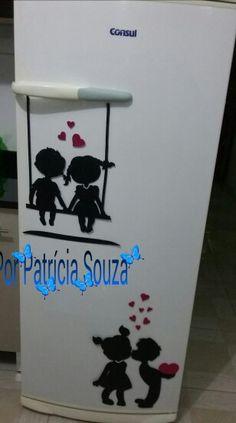 Ima de geladeira em eva por Patrícia Souza