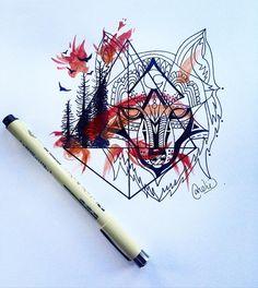. . . . . . . . . #instagramartist #instagramart #natureart #nature #finetec #linedrawing #geometricdesign #geometric #geometrictattoo #watercolordesign #watercolor #calgarytattoo #tattoo #calgaryartlife #calgaryartists #artcanada #tattoodesign #art #artcommunity #artcollective #yycart #calgaryart #forestfire #fortmacfire #fortmac by candiceroseart