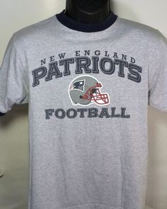 New England Patriots Mens Size Small Reebok Ringer T Shirt #Reebok #GraphicTee #NewEnglandPatriots