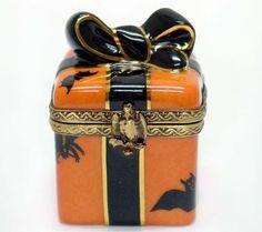 Halloween Gift Wrap Limoges Box
