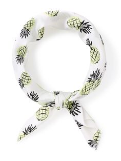 Shop Pineapple Print Satin Bandana at ROMWE, discover more fashion styles online. Bandana Scarf, Bandana Print, Bandana Top, Bandanas, Mickey Mouse Vans, Puppy Crafts, Bandana Design, Fashion Accessories, Hair Accessories