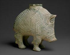 Vessel in the form of a boar.Southwestern Iran;Proto-Elamite ca. 3100–2900B.C. (via The Metropolitan Museum of Art)