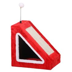 Feline D'Vine SCRATCHER Fleece And Sisal Triangle Shaped Scratcher Box ** See this great product. (This is an affiliate link and I receive a commission for the sales)