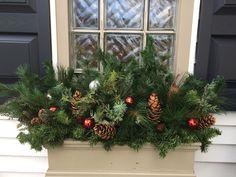 Christmas 2016 Christmas 2016, Christmas Time, Christmas Wreaths, Christmas Decorations, Xmas, Holiday Decor, Christmas Window Boxes, Winter, Windows