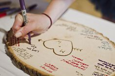 "Fun ""natural"" idea for a guest book... something that I wouldn't actually mind keeping!"