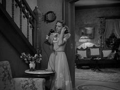 """It's hard to imagine Christmas without revisiting George and Mary Bailey and their """"drafty old house,"""" as he calls it, in Bedford Falls. Wonderful Life Movie, The Donna Reed Show, Bedford Falls, Tv Moms, Jean Arthur, From Here To Eternity, Christmas Interiors, Vintage Gypsy, Old Shows"""