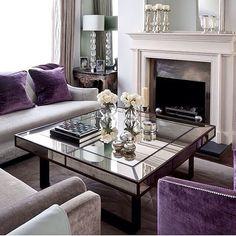 Purple Living Room Decor Design Ideas, Pictures, Remodel and Decor Elegant Living Room, Living Room Grey, Formal Living Rooms, Home Living Room, Living Room Designs, Living Room Decor, Living Spaces, Classic Decor, London Living Room