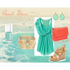Beach Daze, created by swede-dreamer on Polyvore