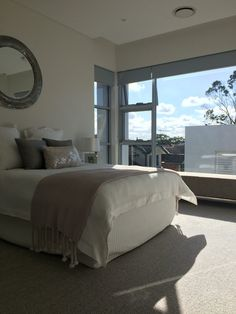 I just love this bedroom. Fresh and light filled. KyeCreations styling with Valiant Hire.