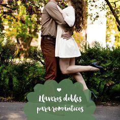 Llaveros dobles románticos
