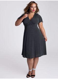 IGIGI - Lara Dress #polkadress #Throwback #plussizebyIGIGI $122.00