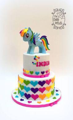 New cake rainbow dash kids Ideas Birthday Cakes Girls Kids, My Little Pony Birthday Party, Rainbow Birthday, Cake Birthday, Cake Kids, 5th Birthday, Bolo My Little Pony, My Little Pony Cupcakes, Anniversaire My Little Pony