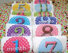 Month stickers for onesies