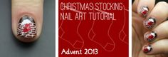 Advent Tutorial: Stocking | She Who Does Nails