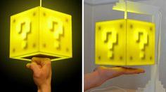Super Mario coin block touch sensitive light.j