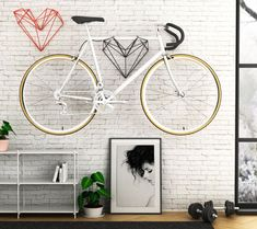 Minimalist Bike Storage Ideas for Tiny Apartments (Pictures) space-saving bike storage ideas for small apartments. Indoor bike storage solutions are for people who can't part with their bicycle. Vertical Bike Storage, Bicycle Storage Rack, Outdoor Bike Storage, Indoor Bike Rack, Bike Storage Garage Wall, Bicycle Rack, Bike Storage Options, Bike Storage Systems, Bike Storage Ideas Diy