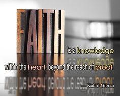 kahlil gibran quote on faith