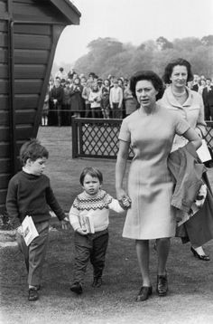 Princess Margaret with her children Lady Sarah ArmstrongJones and Viscount David Linley