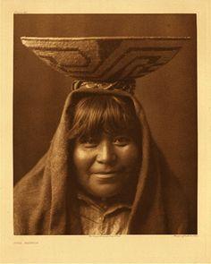 "Pima matron, 1907. Photogravure. Curtis Caption: ""A representative Pima woman of middle age."""