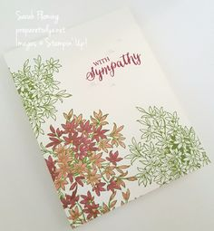 Stampin' Up! Awesomely Artistic and Rose Wonder stamps - CAS - single layer card - Sarah Fleming - Prepare to Dye Papercrafts