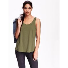 Old Navy Womens Relaxed Tank ($11) ❤ liked on Polyvore featuring tops, petite, old navy tank tops, scoop neck top, jersey tank, sleeveless tank and old navy tops