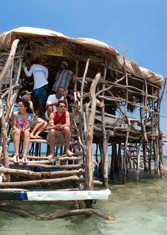 Nightclubs and Bars in Unexpected Places: Here's Pelican Bar, located on a sandbar in Parottee Bay, one mile off Jamaica's southern coast