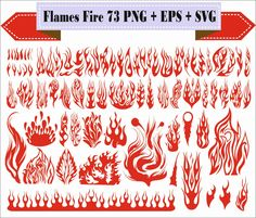 Flames Fire Ball Tattoo Heat Burning Designs Play Pack Silhouette Vector Clipart…