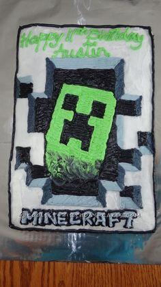 Minecraft Theme: Minecraft Creeper Cake.