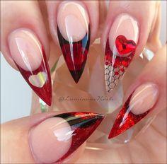 Sexy Nail Art Design Ideas for Ladies Sexy Nail Art, Sexy Nails, Cool Nail Art, Trendy Nails, Fun Nails, Black Nail Designs, Acrylic Nail Designs, Nail Art Designs, Nails Design