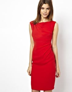Cute red pencil dress :)