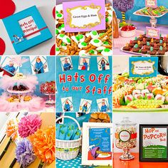 Hats Off! A Seuss-ical Way to Celebrate Teacher Appreciation Week! Teacher Appreciation Luncheon, Teacher Appreciation Week, Student Teacher Gifts, School Fun, School Days, School Stuff, Hats, Elementary Counseling, Career Counseling