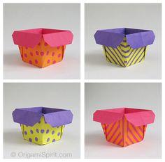Easy, pretty origami box =)
