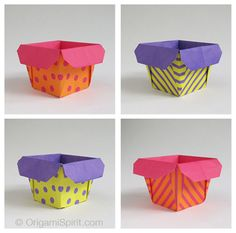 Easy, pretty origami box =)