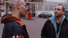 Kim Bodnia and Mads Mikkelsen in Pusher Mads Mikkelsen, Thriller, Films, Movies, Cinema, Actors, People, Costume, Running
