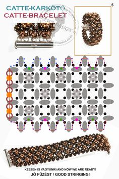 Ewa beaded World: Catte pattern bracelet / bracelet pattern Catte