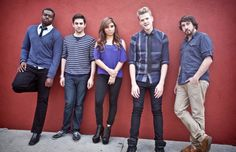 This is Pentatonix The videos are amazing, esp Kevin beatboxing and playing the cello at the same time.