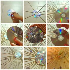 Best 12 You do not have to land in the trash can. In addition there are very good conditions for imaginative crafting with – SkillOfKing. Cd Diy, Cd Crafts, Diy Crafts To Do, Recycled Cds, Recycled Crafts, Cd Wall Art, Hippie Crafts, How To Make Rope, Diy Bottle