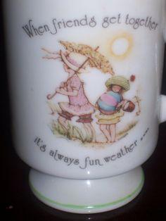 Hollie Hobby Friendship Beach Porcelain Mug Cup Cute by Aurelas, $10.00