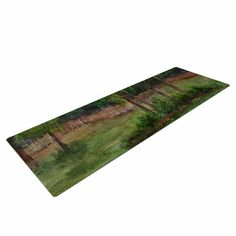 "Cyndi Steen ""A Storm At The Strand"" Green Travel Yoga Mat"
