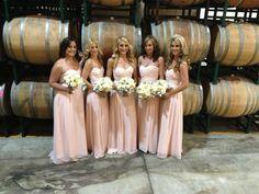 Vineyard Wedding, Blush Bridesmaids Dresses!