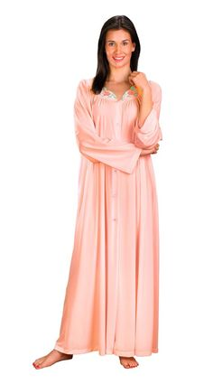 d9d6aab3c2989 Shadowline Petals 54 Inch Long Sleeve Button Robe Gown
